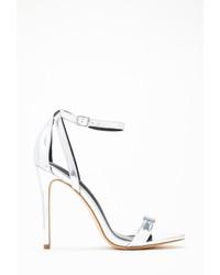 Forever 21 Metallic Ankle Strap Stillettos