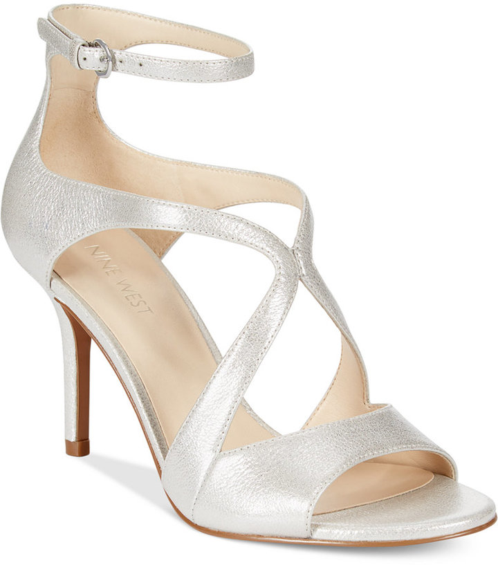 3b0bee229 ... Nine West Gerbera Mid Heel Dress Sandals ...