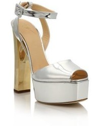 Giuseppe Zanotti Metallic Leather Platform Sandals