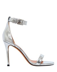 Givenchy 100mm Nadia Metallic Leather Sandals