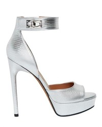 Givenchy 130mm Sharklock Metallic Leather Sandals