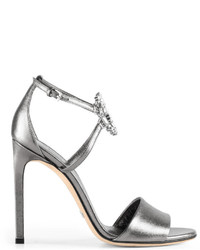 Gucci Gg Sparkling Leather Sandal