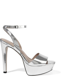 Halston Heritage Bobbie Mirrored Leather Sandals