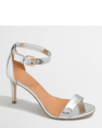 J.Crew Factory Metallic High Heel Sandals