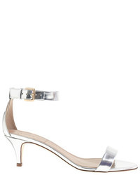 J.Crew Mirror Metallic Kitten Heel Sandals