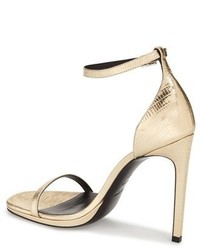Saint Laurent Jane Ankle Strap Leather Sandal