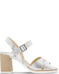 Dune Judo Metallic Leather Heeled Sandals