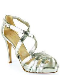 Kate Spade Ginger Silver Strappy Platform Sandal