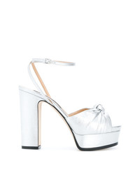 Sergio Rossi Knot Front Platform Sandals