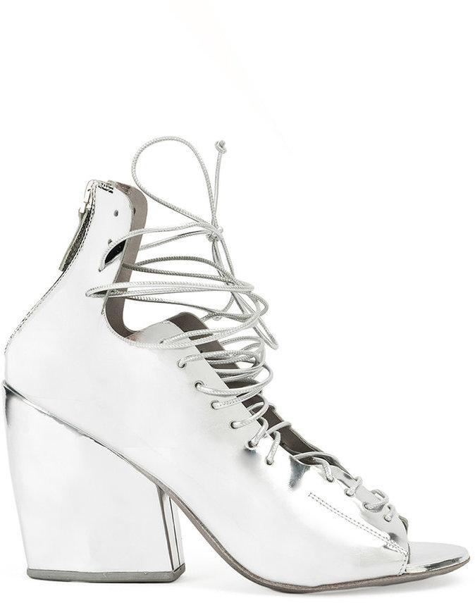 Marsèll Lace Up Block Heel Sandals