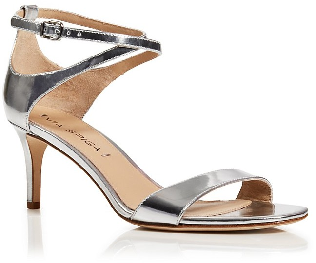 6e579b42448 ... Via Spiga Leesa Metallic Patent Leather Ankle Strap Mid Heel Sandals ...