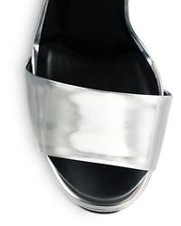2e345258e1a ... Gucci Leila Metallic Leather Platform Sandals