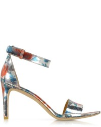 Marc by Marc Jacobs Jerrie Rose Specchio Persimmon Orange Leather Sandal Heel