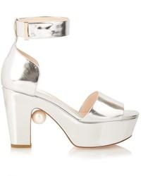 Nicholas Kirkwood Maya Pearl Embellished Block Heeled Sandals