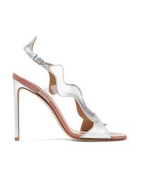 Francesco Russo Med Metallic Karung Sandals