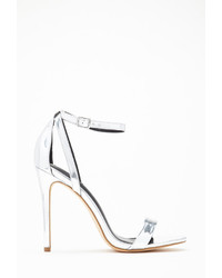 Forever 21 Metallic Ankle Strap Stillettos