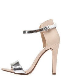 Charlotte Russe Metallic Color Block Single Strap Heels