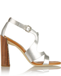 Stella McCartney Metallic Faux Leather Sandals