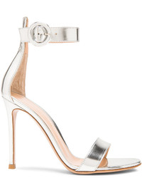 Gianvito Rossi Metallic Leather Portofino Heels