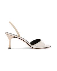 Giuseppe Zanotti Metallic Leather Slingback Sandals