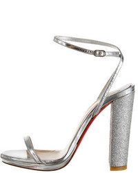 Christian Louboutin Metallic Sandals
