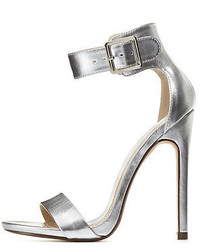 Charlotte Russe Metallic Single Sole Ankle Strap Heels