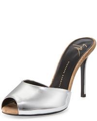 Giuseppe Zanotti Metallic Specchiocork Slide Heel