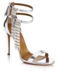 Aquazzura My Desire Metallic Leather Jeweled Sandals