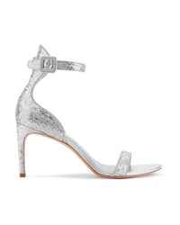 Sophia Webster Nicole Glittered Leather Sandals