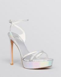 Stuart Weitzman Open Toe Platform Evening Sandals Bebare High Heel