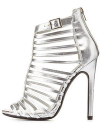 Paprika Super Strappy Caged High Heels