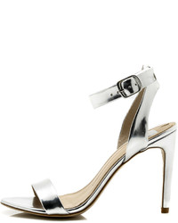 Dolce Vita Silver Strappy Heels
