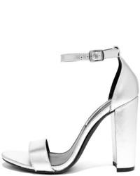 Steve Madden Carrson Blush Patent Ankle Strap Heels