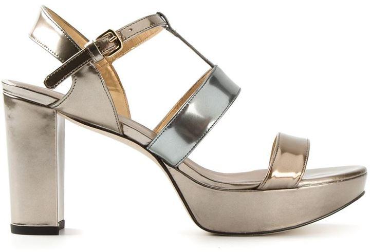 5e3ca1a5a36 ... Stuart Weitzman Metallic Chunky Heel Sandals
