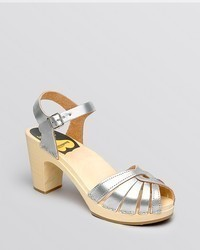 Swedish Hasbeens Open Toe Platform Clog Sandals Frederica