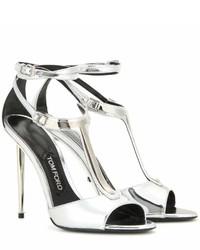 Tom Ford Elena Metallic Leather Sandals