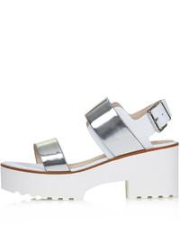 Topshop Ninja Strap Mid Heel Sandals