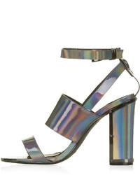 Topshop Relish Metallic Sandals