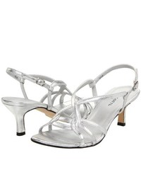 Vigotti Mosey Dress Sandals Silver Leather