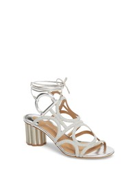 Salvatore Ferragamo Vinci Lace Up Block Heel Sandal