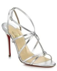 Christian Louboutin Youpiyou Metallic Leather Sandals