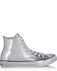 9fe69047a8be ... Converse Chuck Taylor All Star Chrome Metallic Leather High Top Sneakers