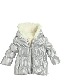 Billieblush Faux Leather Faux Shearling Jacket