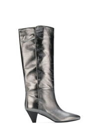 Twin-Set Heeled Metallic Boots