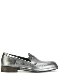 Silver Leather Loafers