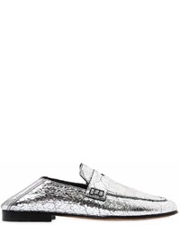Isabel Marant 10mm Fezzy Crackled Leather Loafers