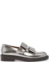 Marni Bow Detail Leather Loafers