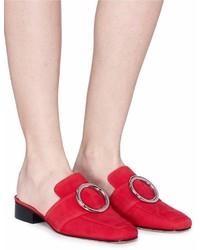 Dorateymur Petrol Oversized Ring Glitter Lurex Slide Loafers