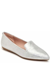 Taryn Rose Faye Metallic Leather Loafers