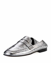Fezzy crackled metallic loafer mule medium 6987933